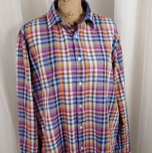 Southern Pines Multicolor Plaid Button Dow…